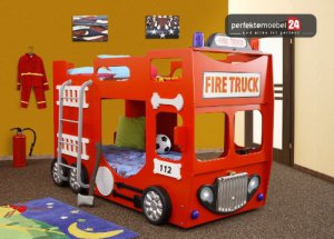 FIRE TRUCK DOUBLE Bett
